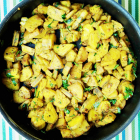 Green Plantains Stir-fried with Spices