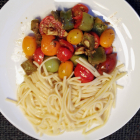 Linguine and Exotic Tomatoes Medley