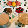 Delicious Healthy Fruits Nuts Smoothie