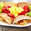 Spicy Veggie Pita Sandwich