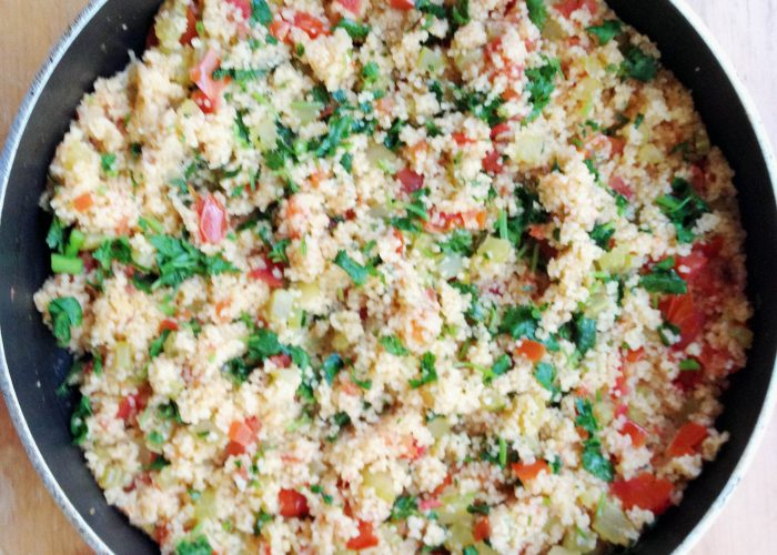 Couscous with Veggies - The parsley, the lemon juice, the tomatoes, yum yum!