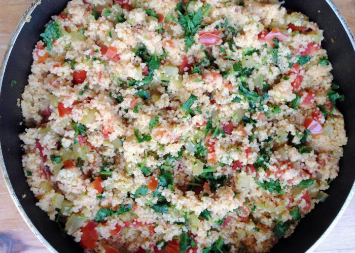 Couscous with Veggies - Greek Food is Wonderful!