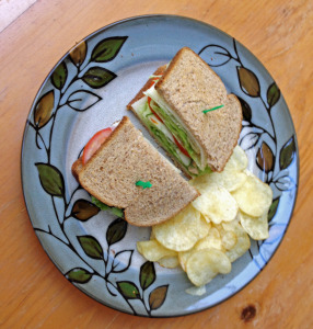 Multigrain Sandwich with Chips