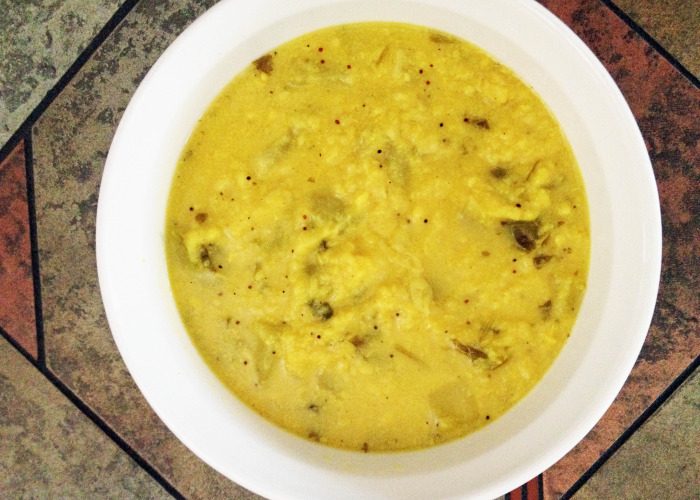 Mung Dahl With Vegetables - Yellow is Beautiful