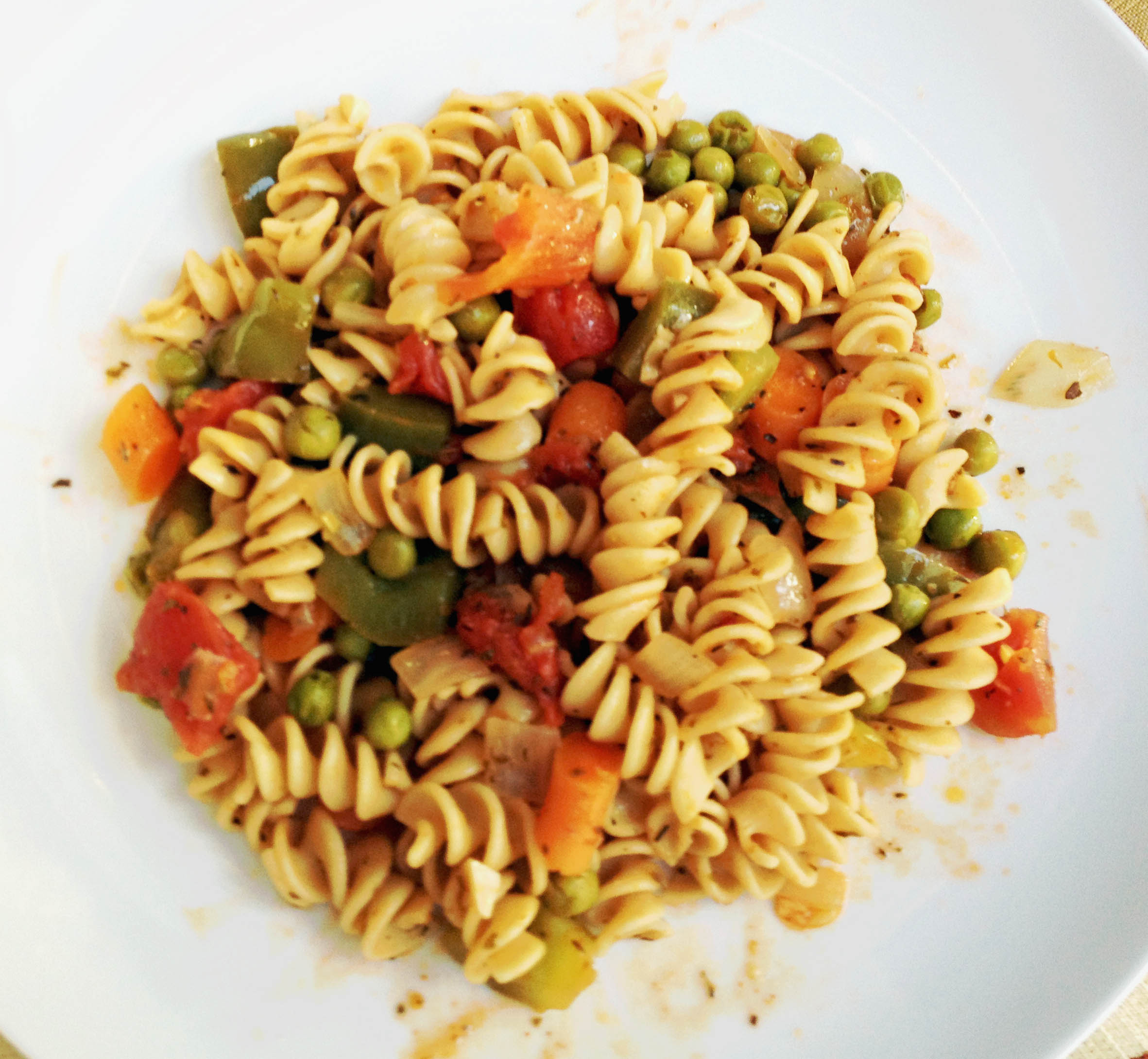 Rotini Veggie Medley - Italian food is amazing!