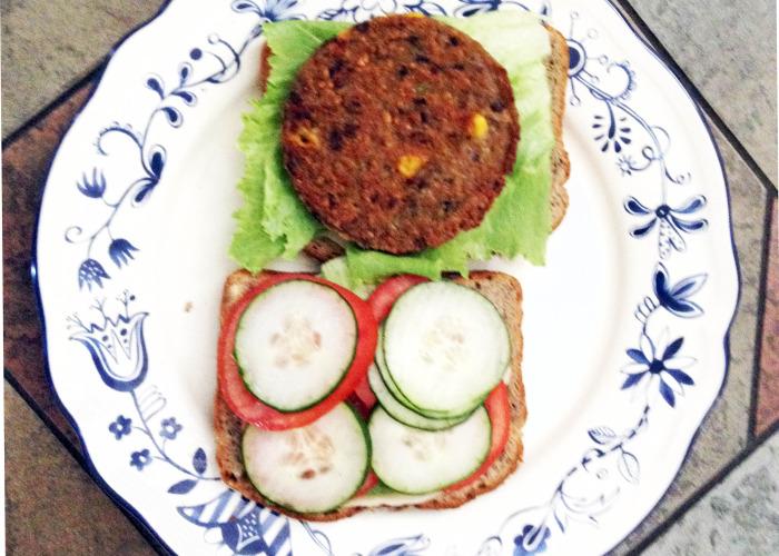 Veggie Burger - nothing on it, still tastes great!