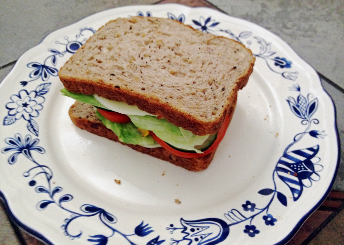 Veggie Burger on Multigrain - Who said burgers cannot be healthy?