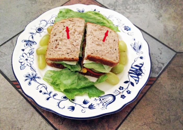 Veggie Burger on Multigrain - Who said burgers cannot be healthy?