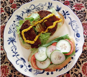 Veggie Burger Everything on it, tastes great!!