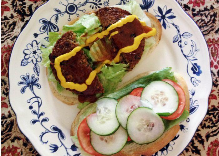 Veggie Burger Everything on it, tastes great!!