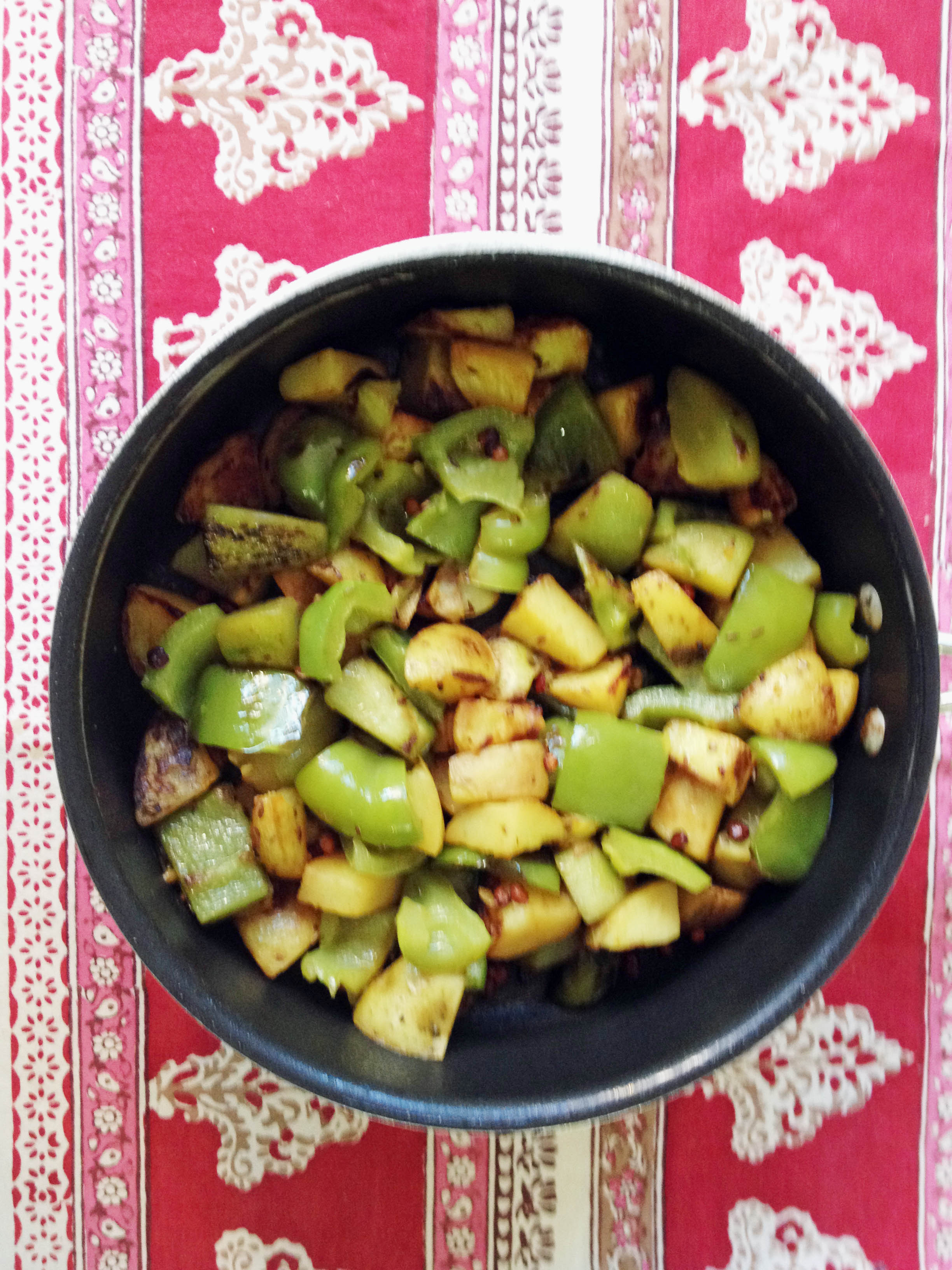 Bell Peppers, Chayote Squash and Potatoes Curry