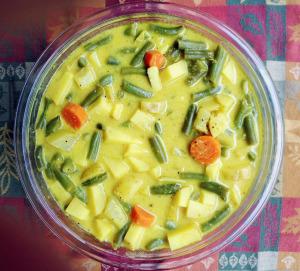 Yoghurt Veggie Stew (Aviyal) - Versatile Foodie