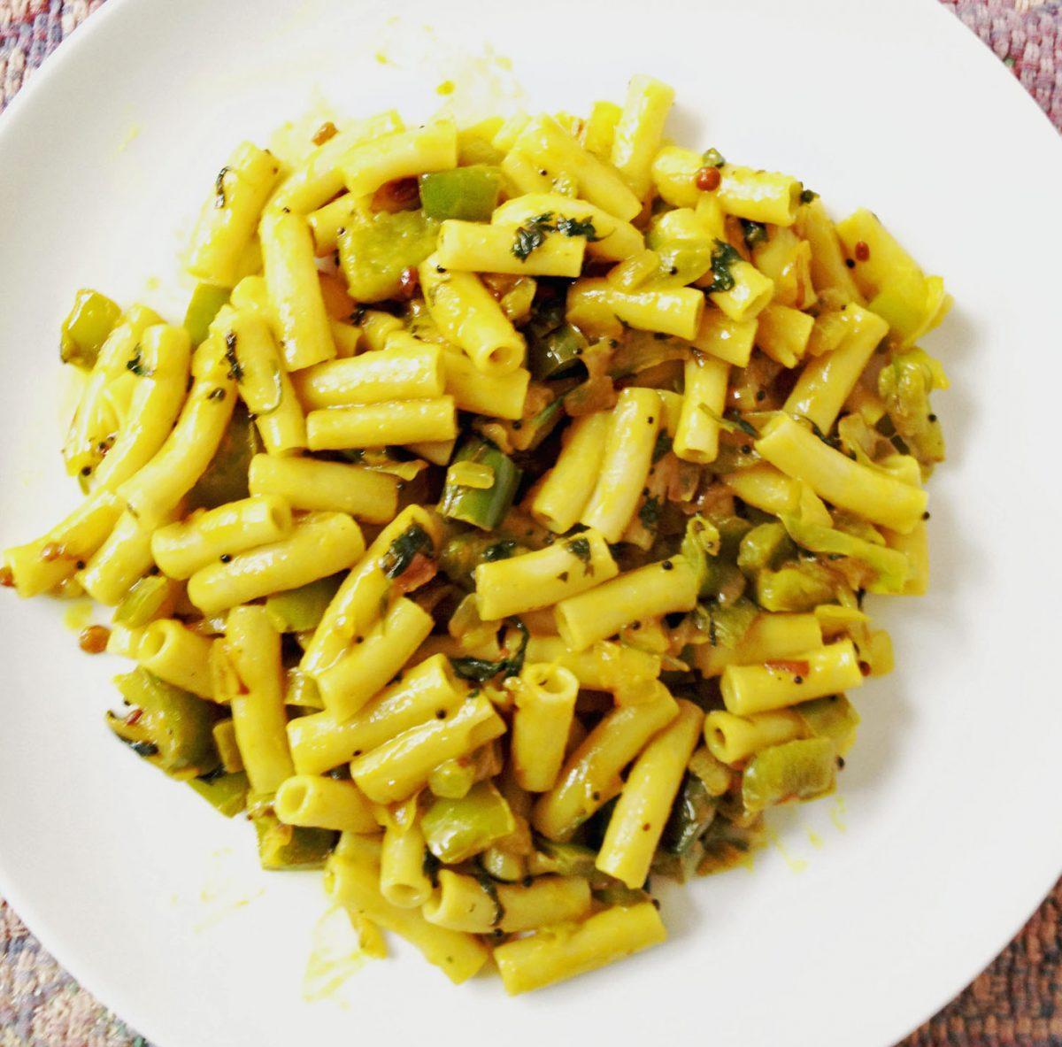 Brown Rice Pasta with Veggies