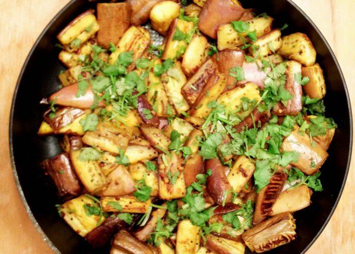Stir-fried Spiced Eggplant Healthy