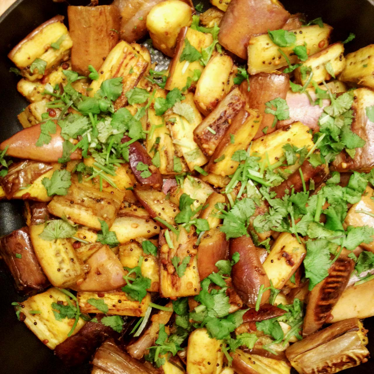 Stir-fried Eggplant – Indian Style