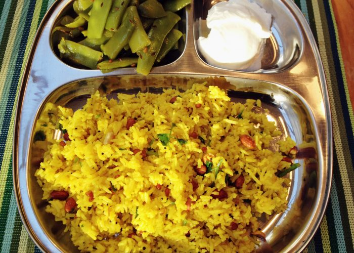 Indian Lemon Rice Meal...Colorful