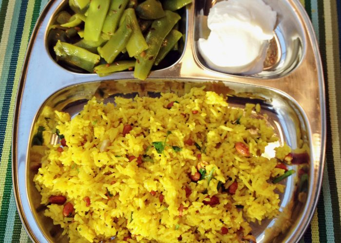 Indian Lemon Rice Meal...Yummy