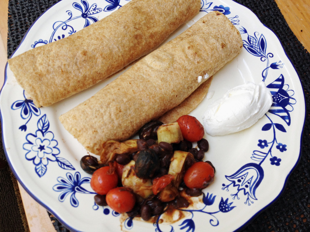 Wheat Burritos with Unusual Filling
