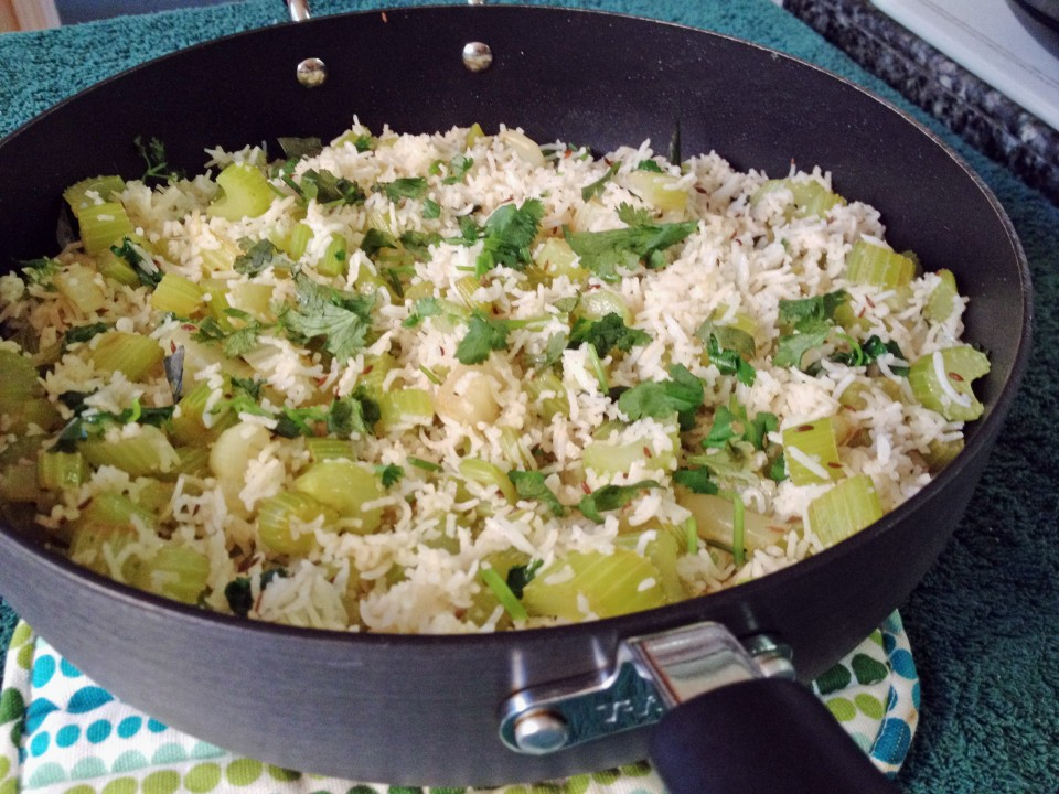 Celery Rice...simple and tasty