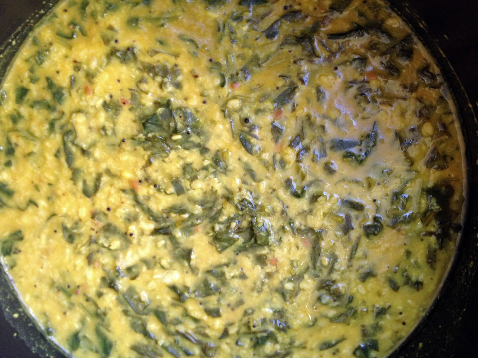 Spinach and Mung Dahl Stew...Pretty