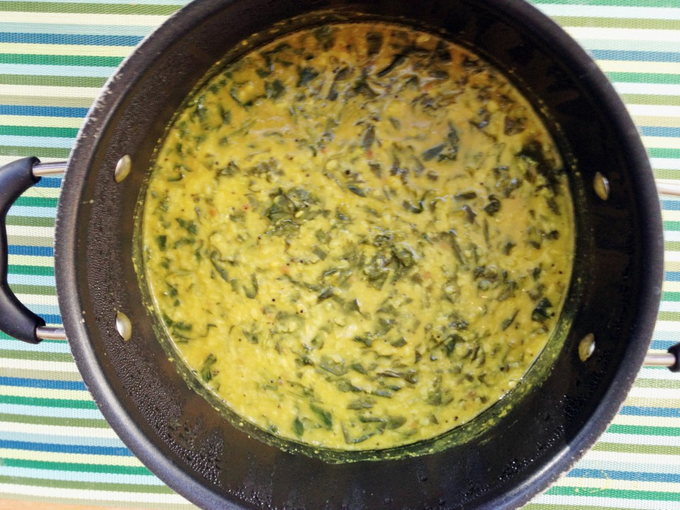 Spinach and Mung Dahl Stew...Very Healthy