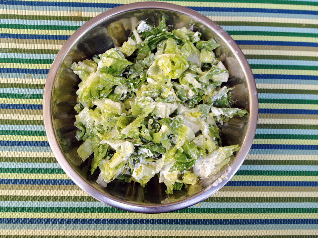 Lettuce Sour Cream Salad 2
