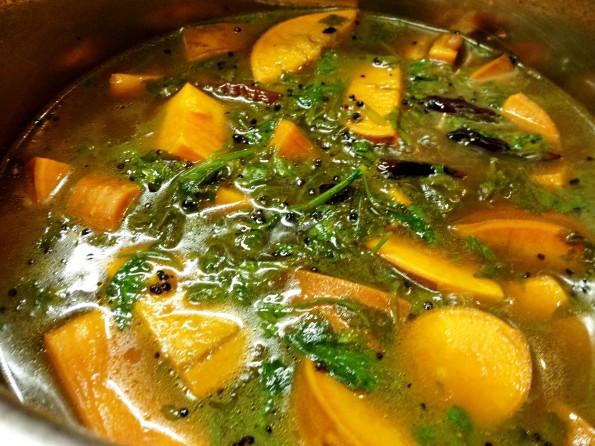 Yams in Tamarind Sauce
