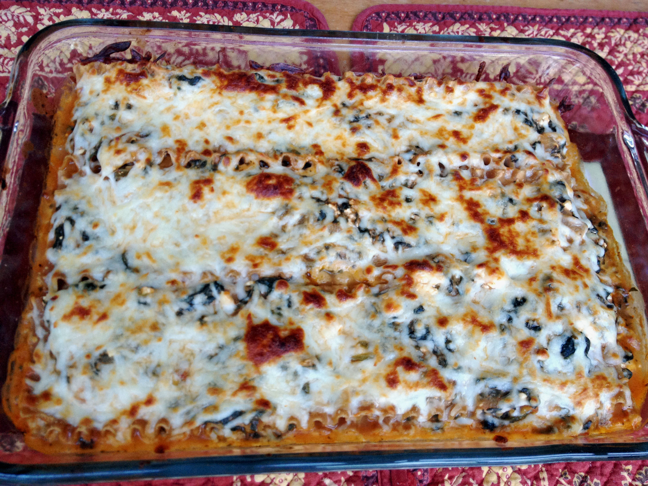 Wonderful Spinach Lasagna