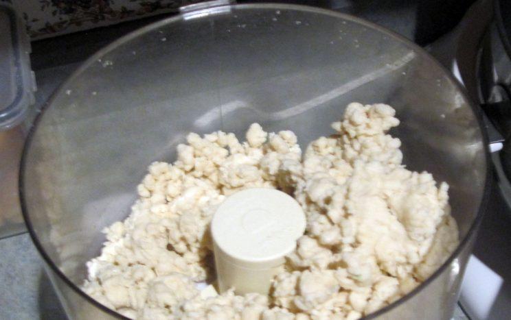 4. Kneading in food processor