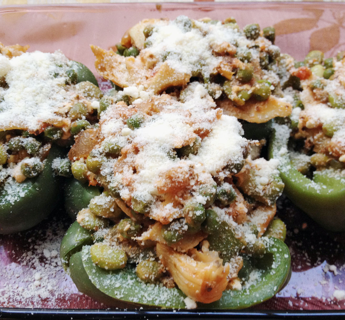 Wondeful Stuffed Bell Pepper Halves
