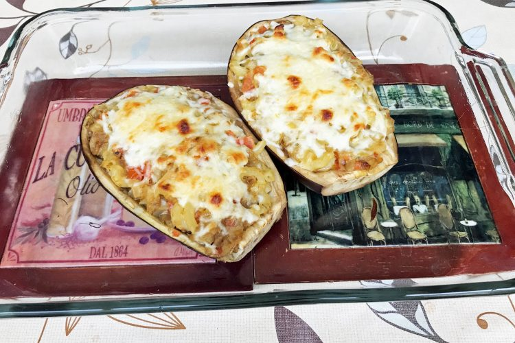 Delectable Stuffed Eggplant