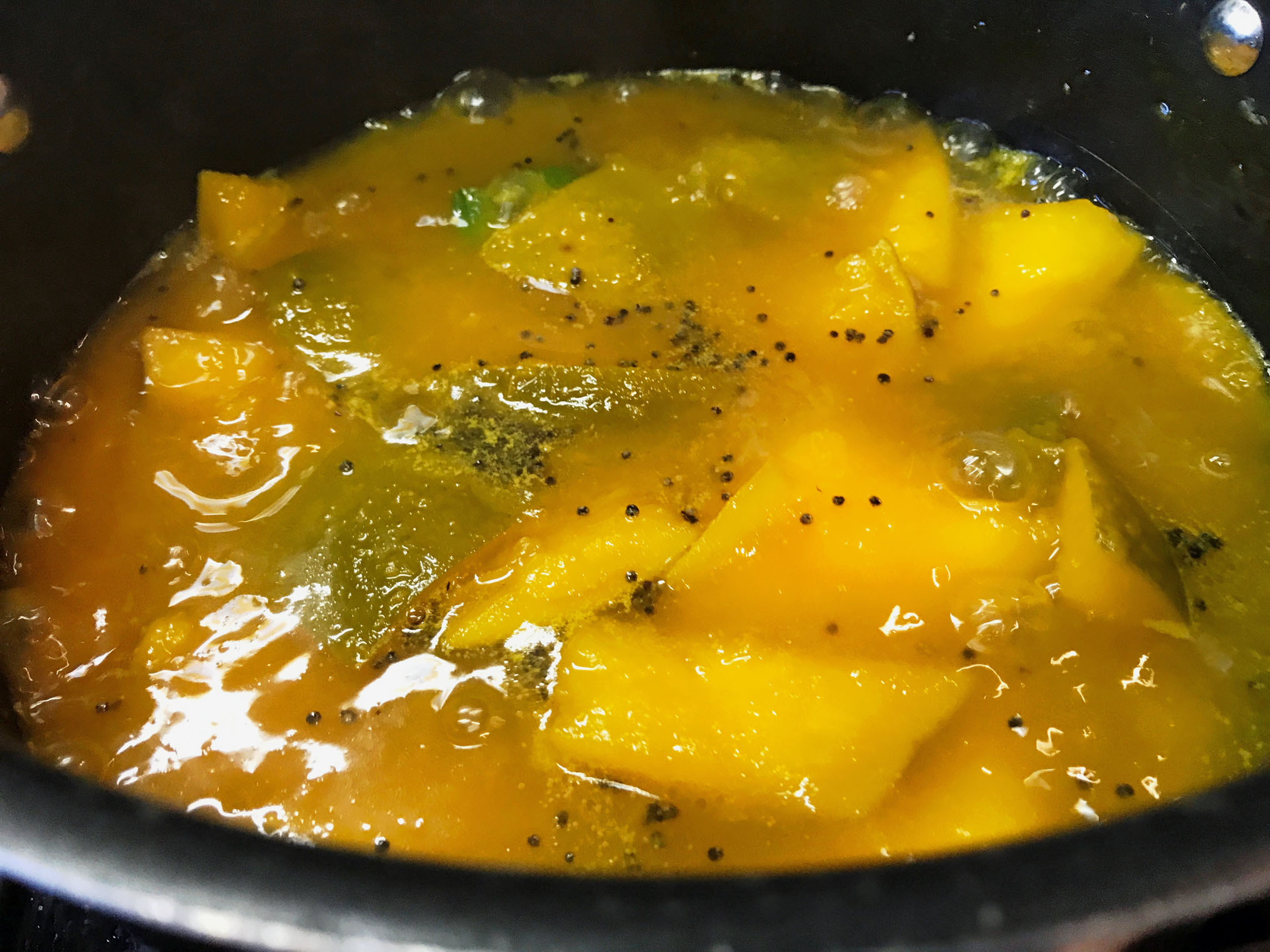 Mango Pachadi (Sweet and Sour Salad)