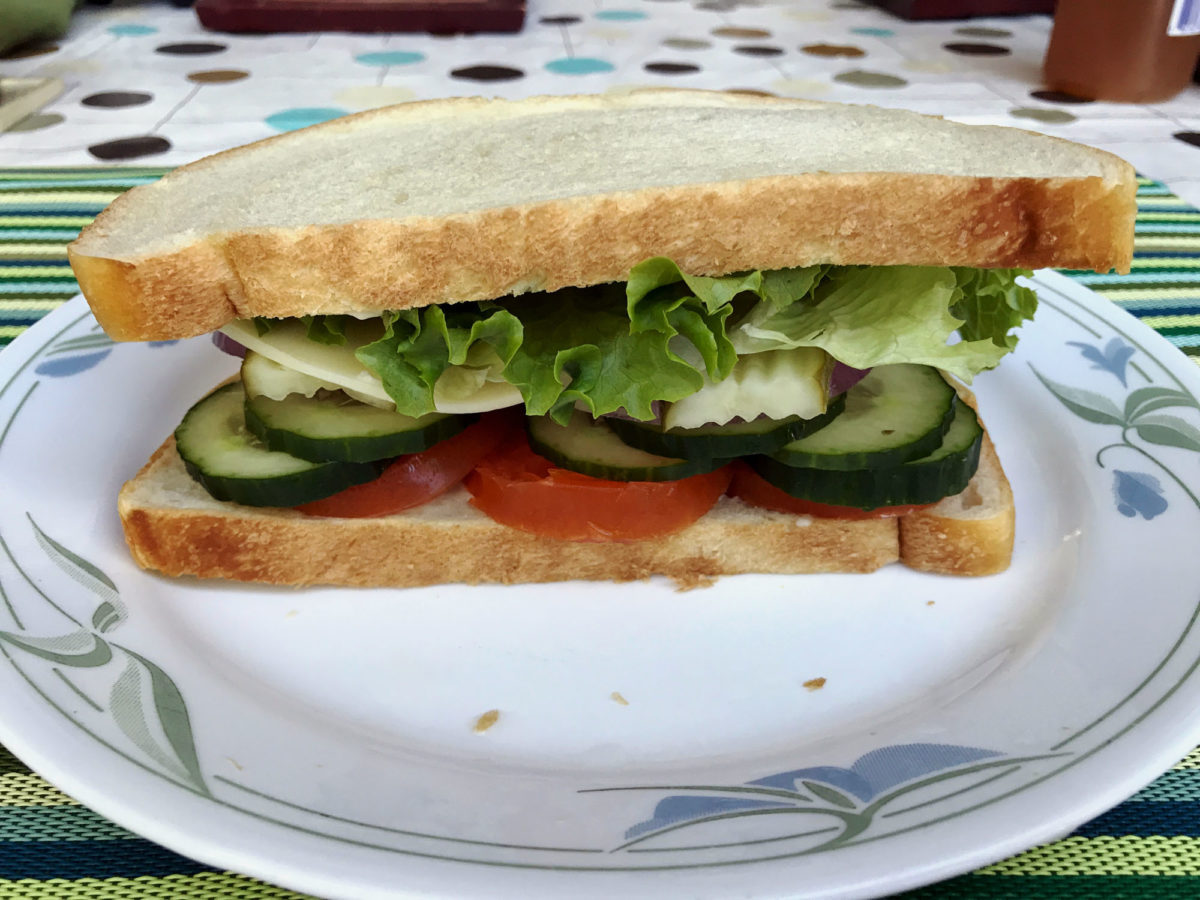 Easy Delicious Veggie Sandwich