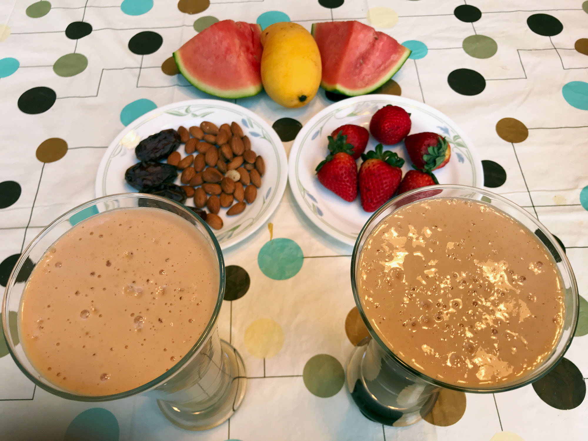 Delicious Healthy Fruits Nuts Dates Smoothie