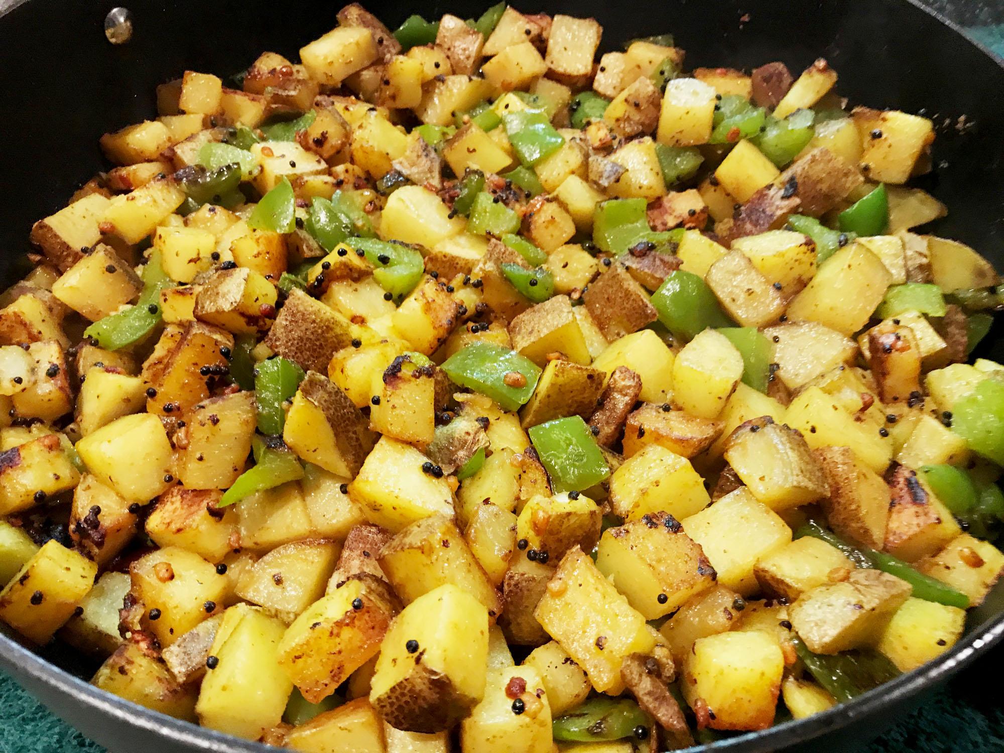 Yummy Spicy Potato Stir Fry