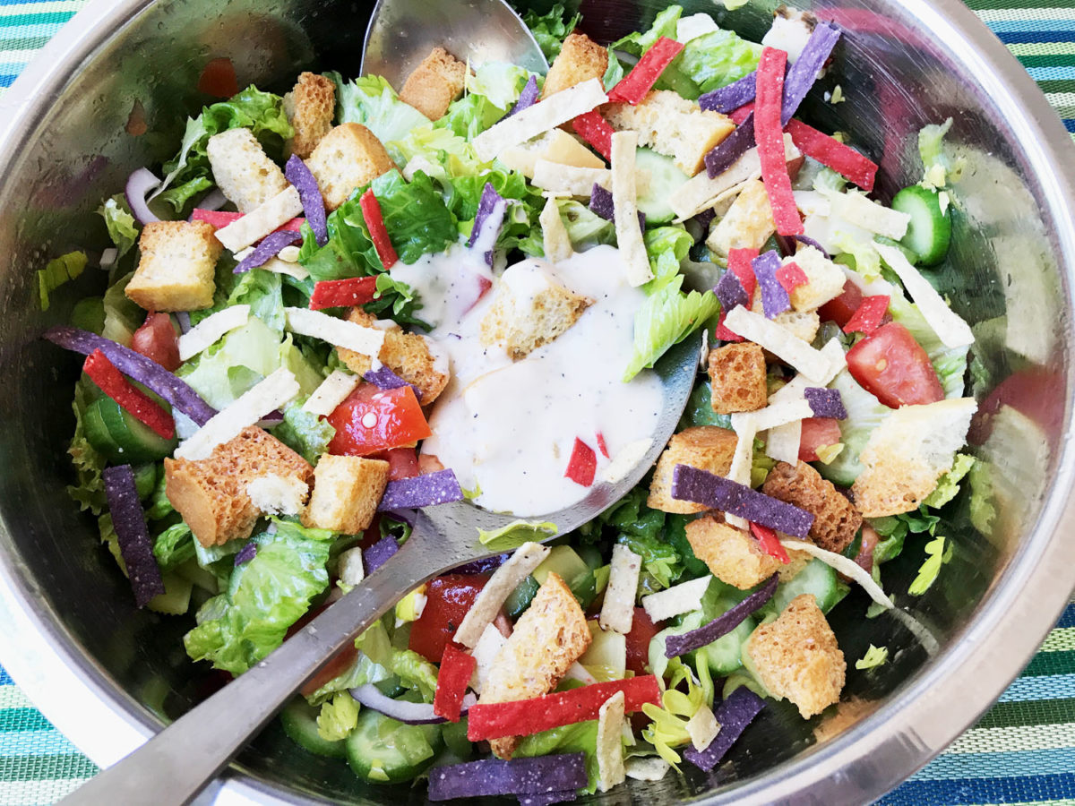 Delicious Healthy Tossed Salad 1