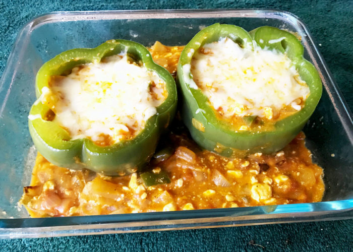 Spicy Cheesy Bell Peppers