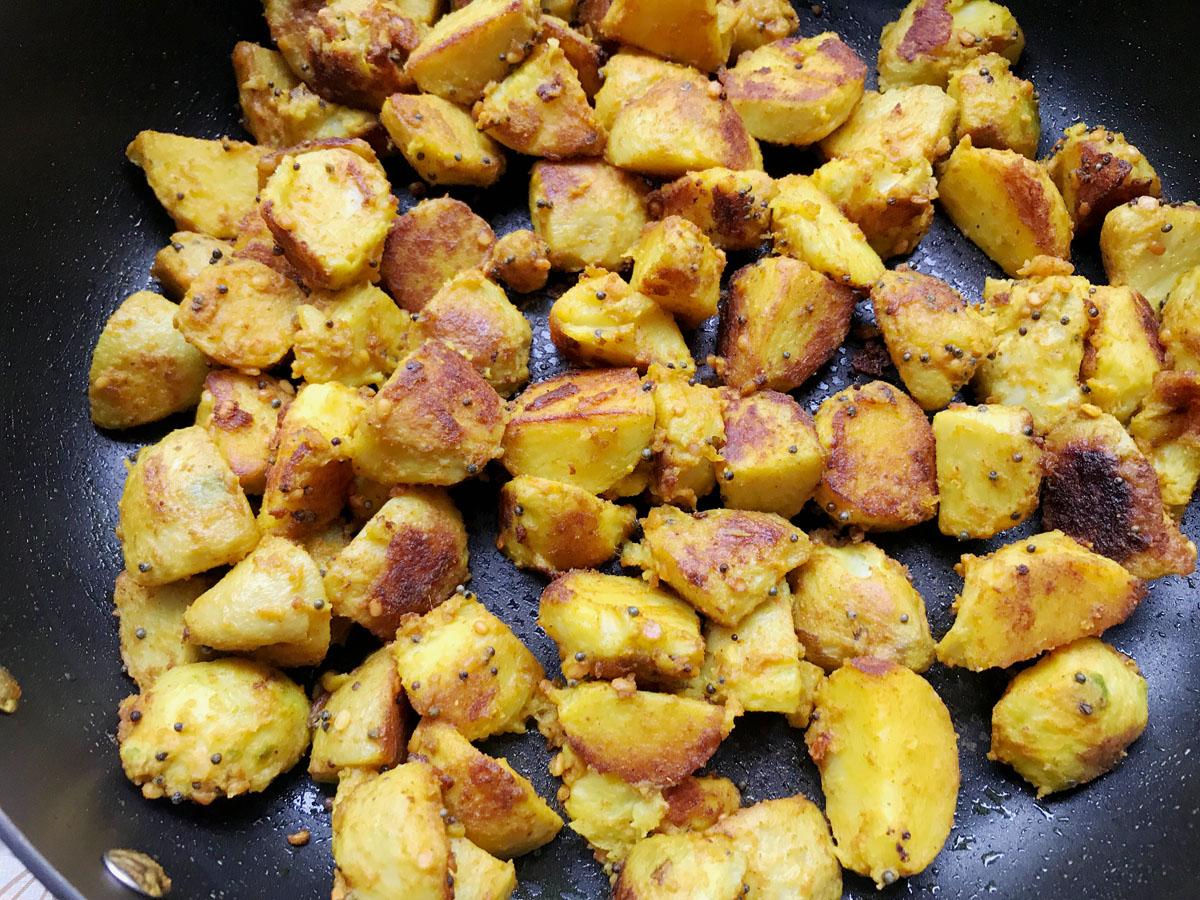 Taro Root Easy Spicy Stir Fry