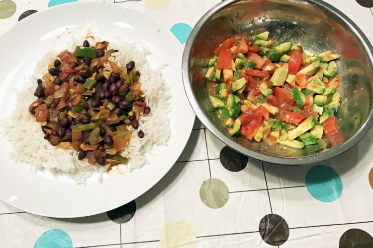 Delicious Veggie, Beans, Spices Medley Meal