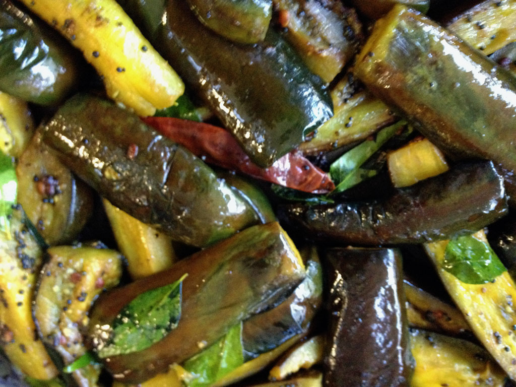 Eggplant (Baingan) Curry with Mint Leaves